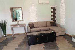 The lounge of the apartment at Kampos Home in Sifnos