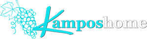 The logo of Kampos Home accommodation at Sifnos