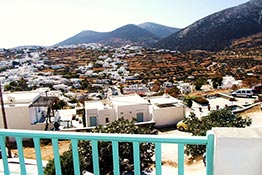 Panoramic view of Apollonia in Sifnos